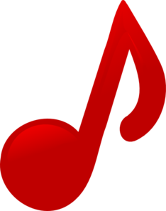 Red Music Note Clip Art at Clker.com.
