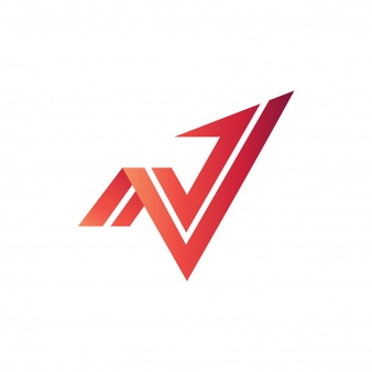 N and v arrow logo vector Vector.