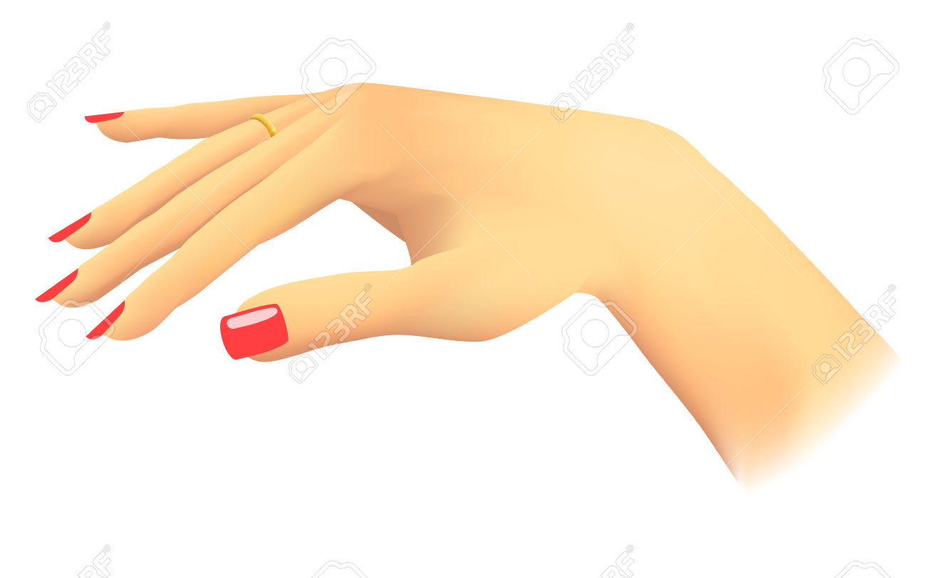 Red nails clipart Clipground