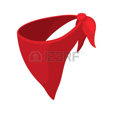 706 Red Bandana Stock Vector Illustration And Royalty Free Red.