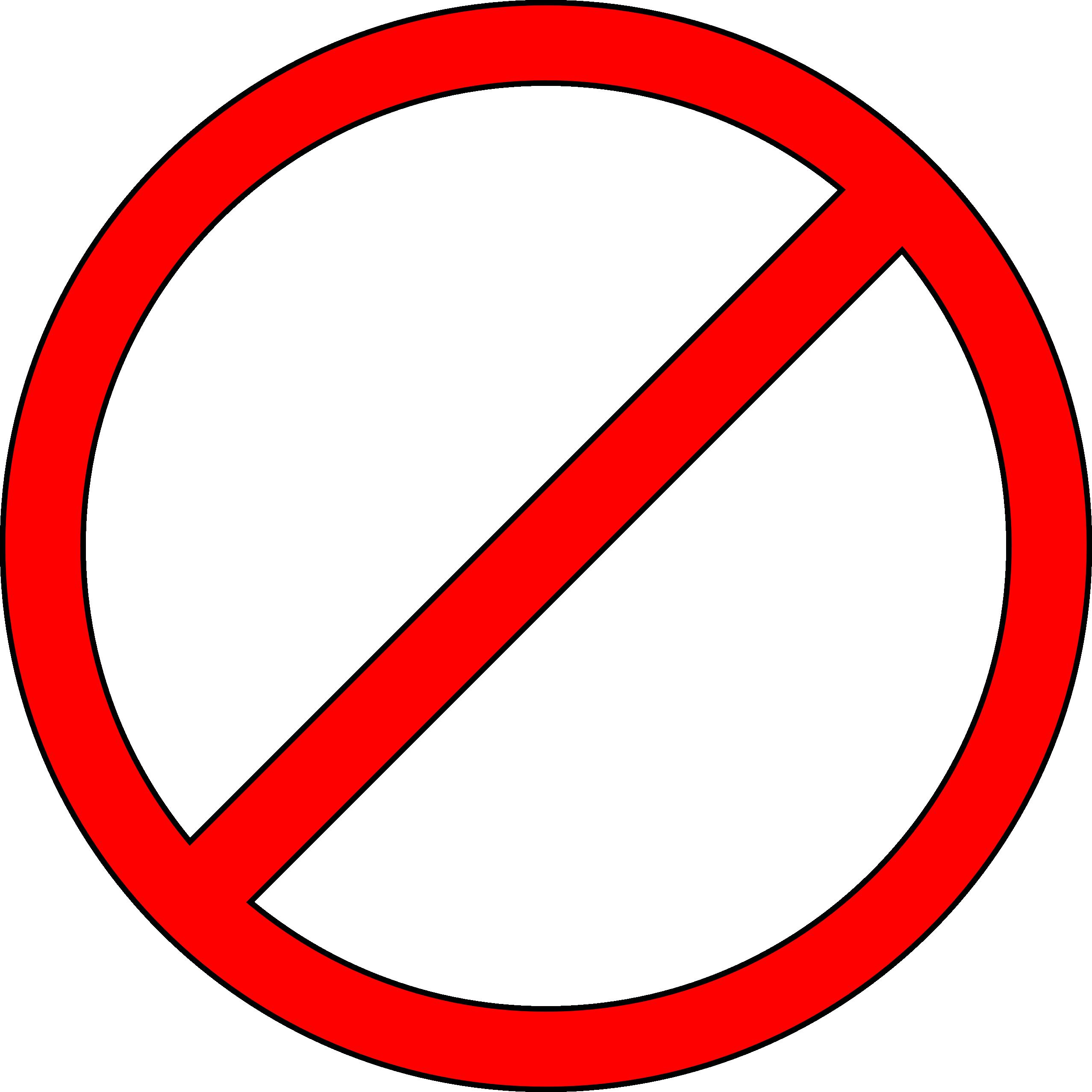No symbol Clip art.