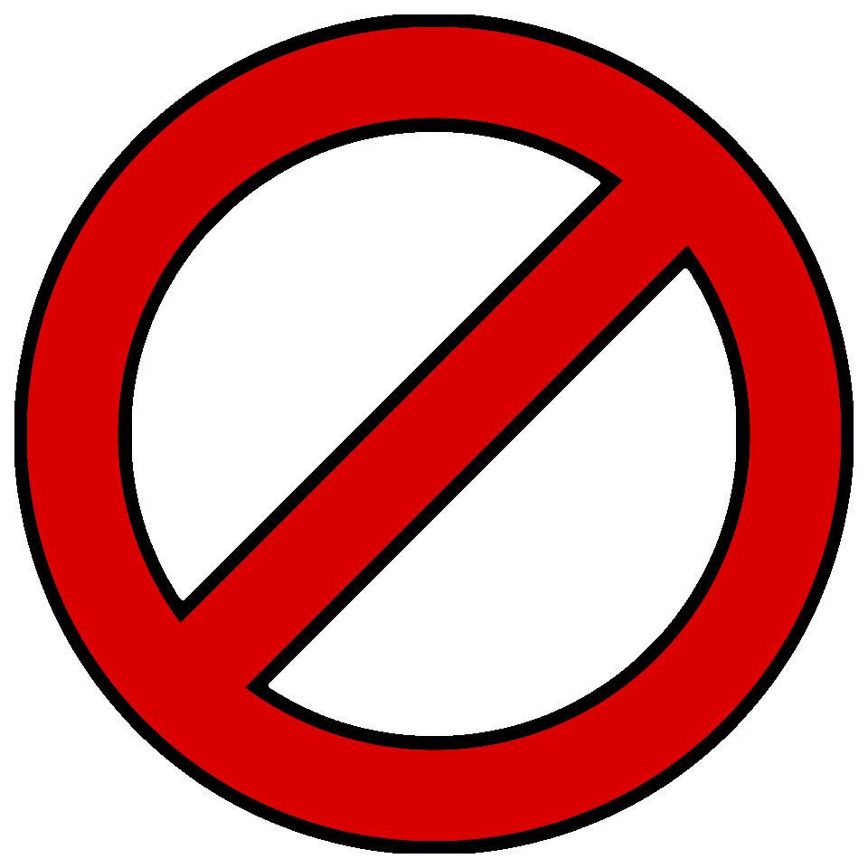 No symbol Slash Clip art.