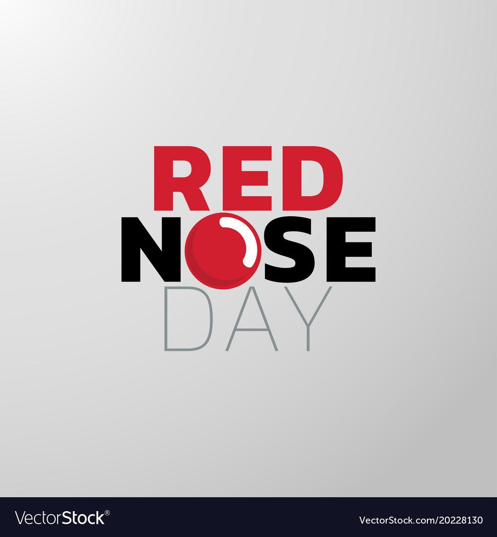 Red nose day icon design medical logo.