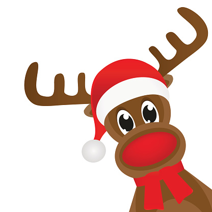 Rudolph the red nosed reindeer clip art.