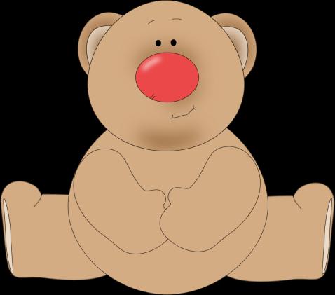 Red Nose Bear Clip Art.