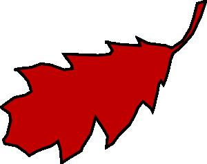 Red Oak Leaves Clip Art.