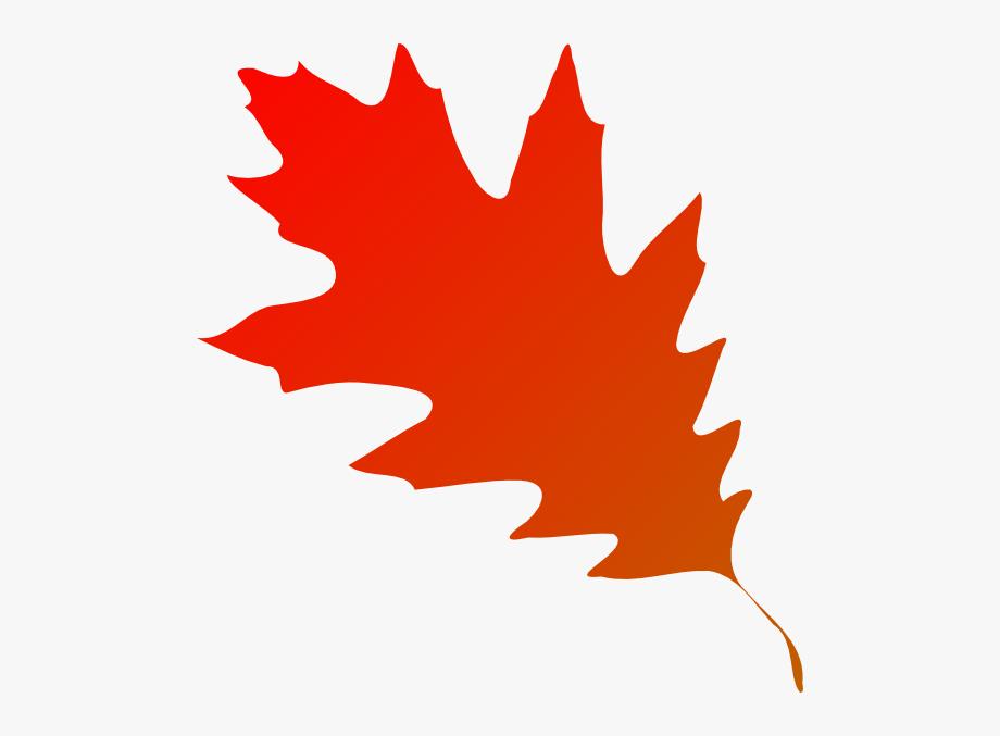 Autumn Leaf Red Orange Clip Art.