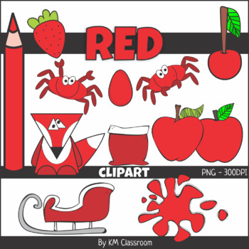 Color Objects RED ClipArt.