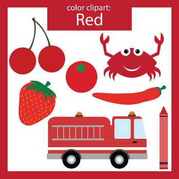 Color Clip art: red objects.