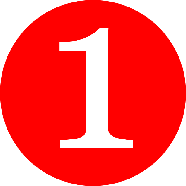 Red, Rounded,with Number 1 Clip Art at Clker.com.