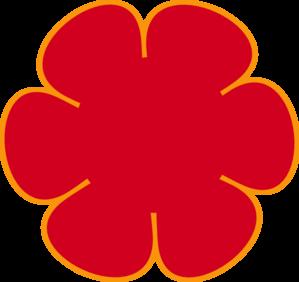 Red Orange Flower Clip Art at Clker.com.