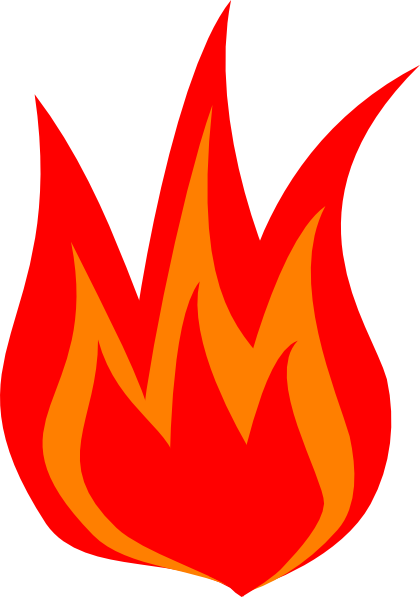 Red Flame Clipart.