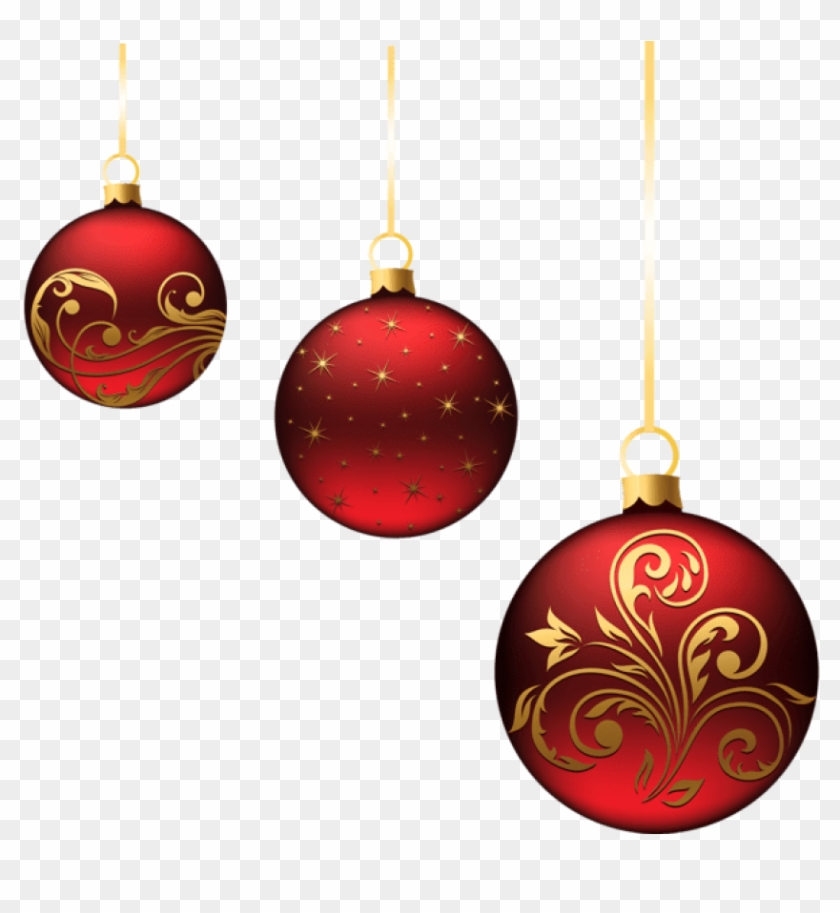 Free Png Christmas Red Balls Ornaments Png Images.