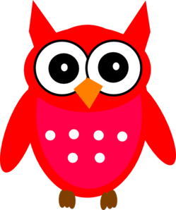 Red Owl Clip Art.
