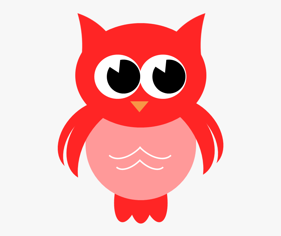 Owl Clipart Red.