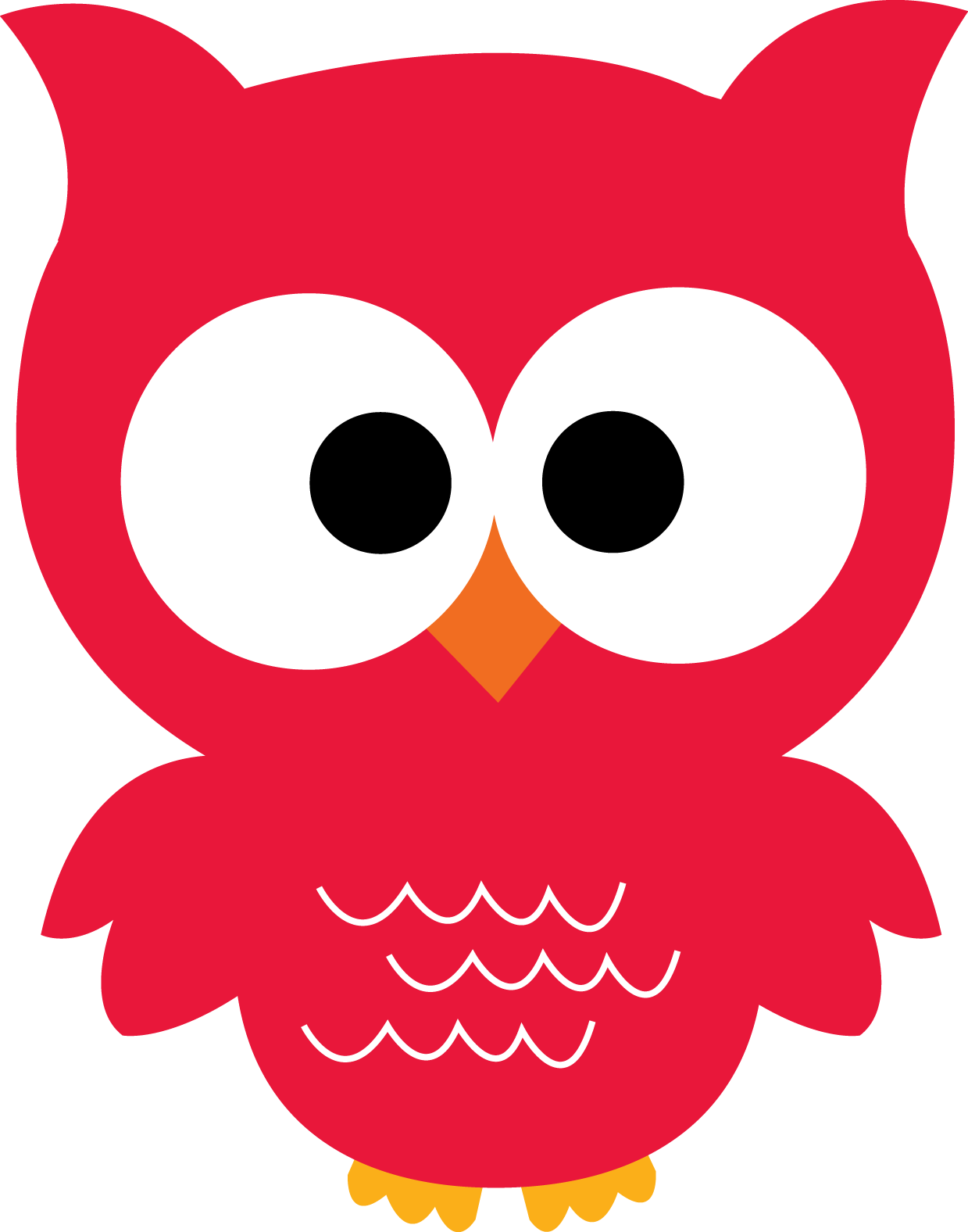 Cute Red Owl Clipart.