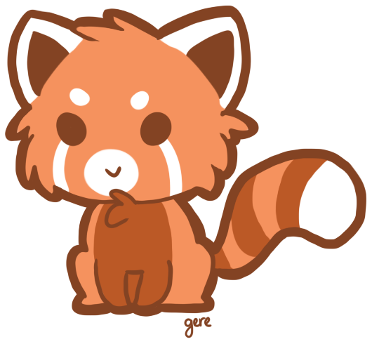 Red Panda Clipart.