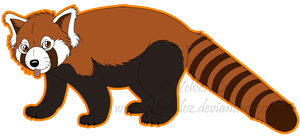 Red panda clip art free clipart images 3.