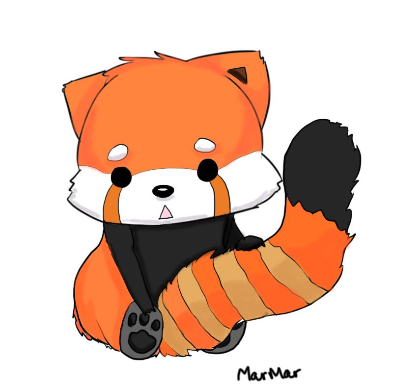 Red Panda Cartoon.