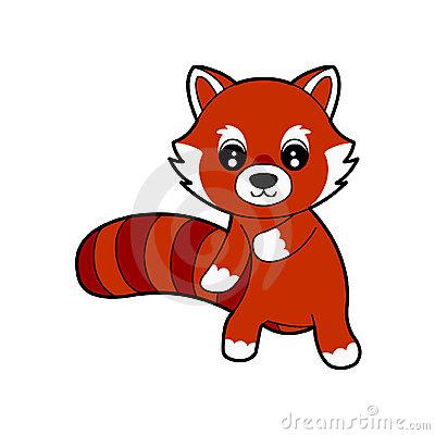Red Panda Clip Art.
