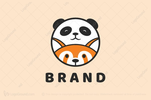 Exclusive Logo 153922, Panda And Red Panda Logo.