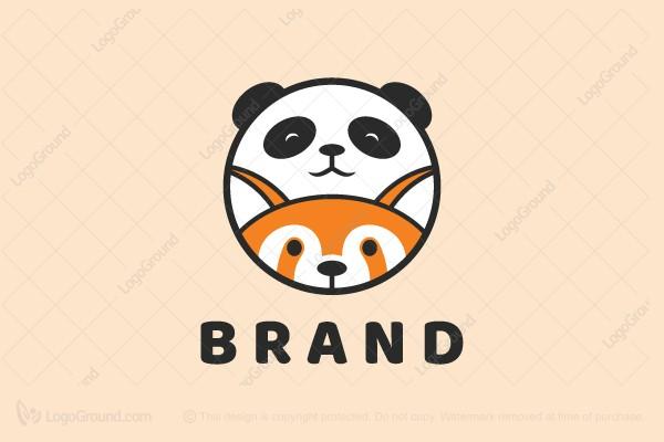 Exclusive Logo 153922, Panda And Red Panda Logo.