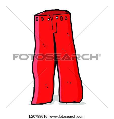 Clip Art of cartoon red pants k20799616.