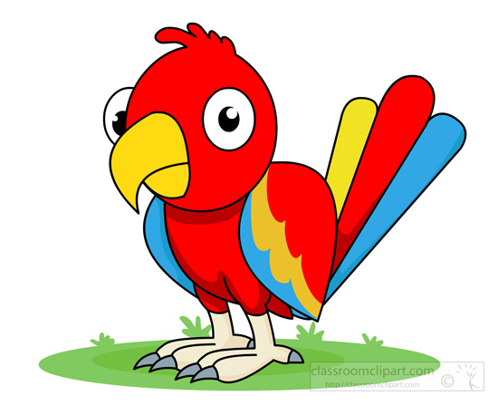 Red Parrot Clipart.