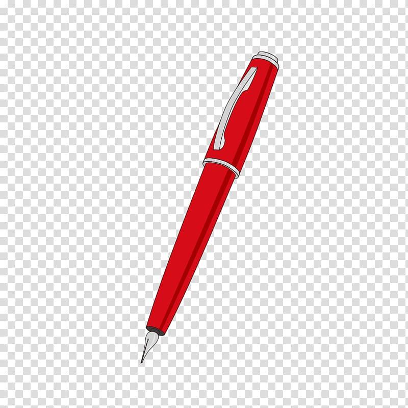 Ballpoint pen Paper Gel pen Stylus, Red pen pattern.