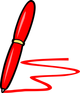 Red Pen And Ink Clip Art at Clker.com.