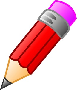Red Pencil Clipart.