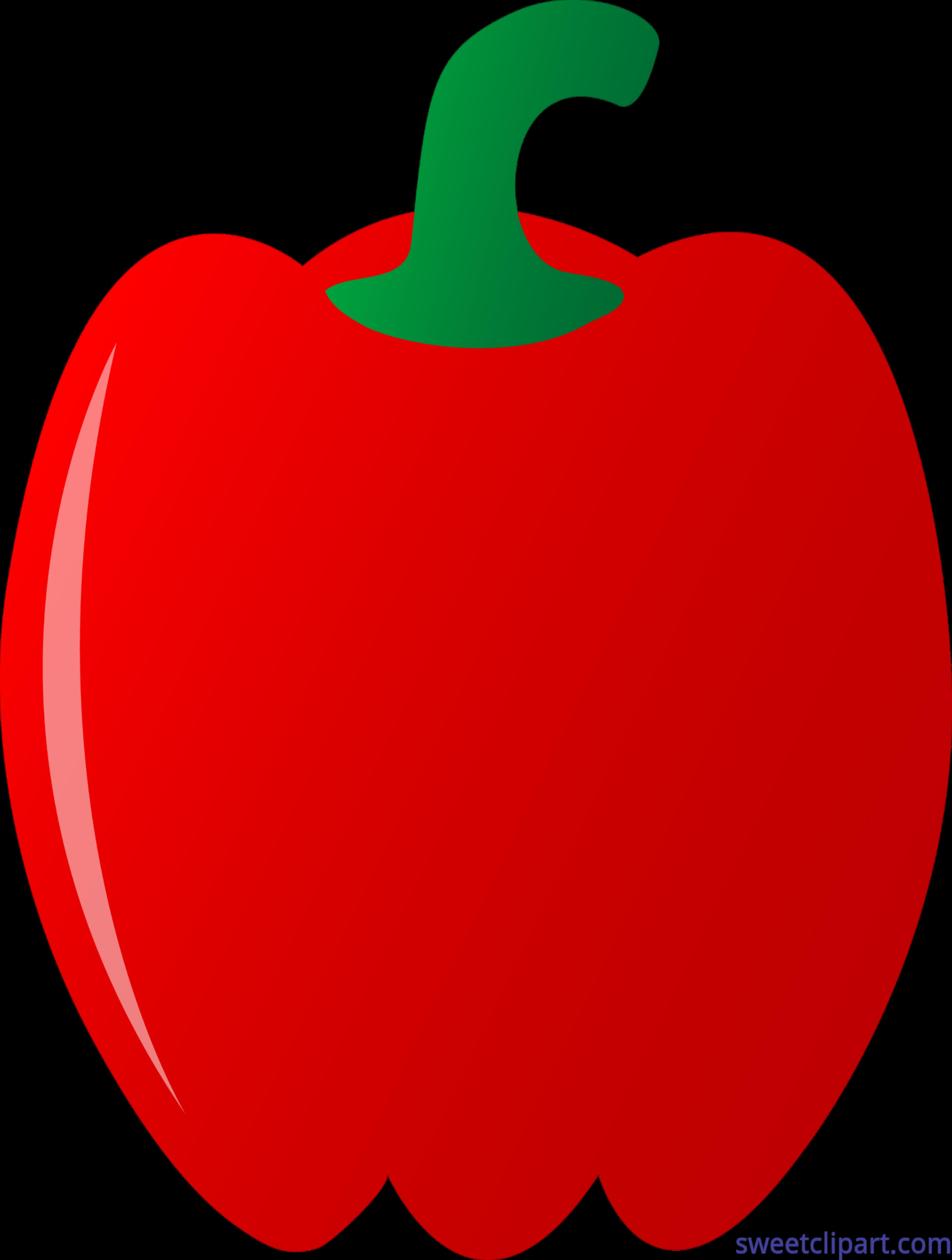 Red Bell Pepper Clip Art.