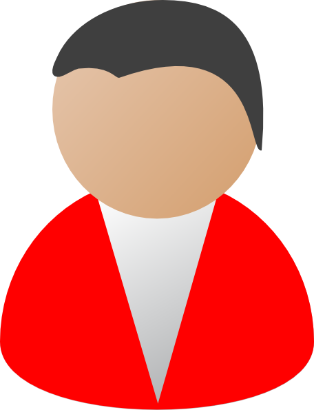 Business person red clip art at vector clip art image #15225.