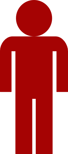 Red Man Symbol Clip Art at Clker.com.