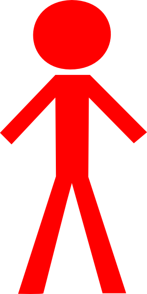 Red Person Clipart.