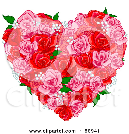 Clipart Valentine Heart Explosion And Chat Balloon Design Elements.
