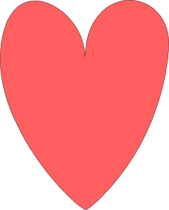 Red Pink Heart Clip Art at Clker.com.