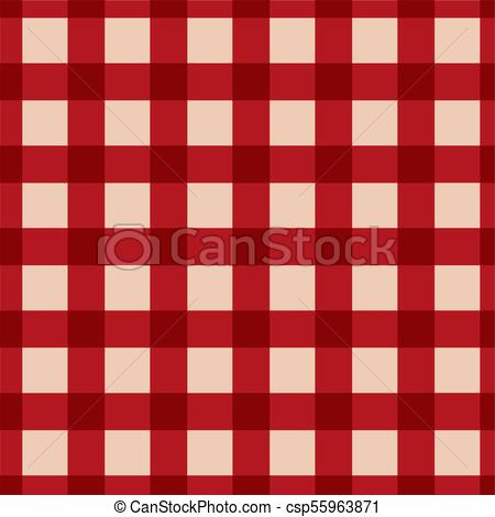 red plaid checkered gingham pattern.