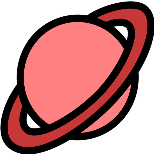 Red planet icon.