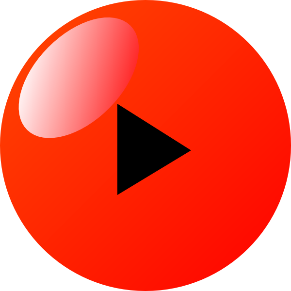 Button Play Red Png , Transparent Cartoon.