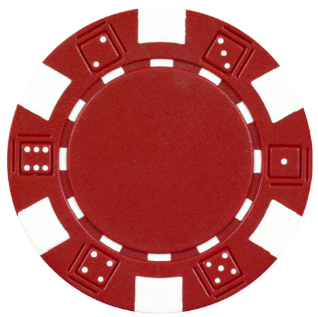 Clay Composite Dice Poker Chips 50 11.5 Gram Red Poker.