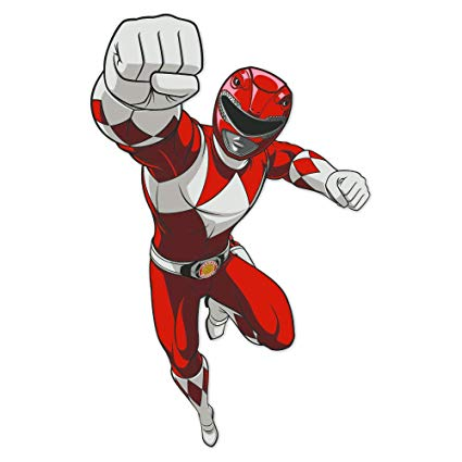 Mighty Morphin Power Rangers Red Ranger Poster Wall Decal.