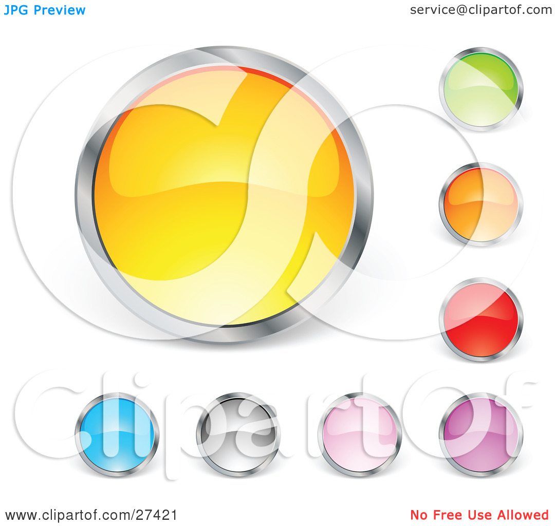 Clipart Illustration of a Collection Of Yellow, Green, Orange, Red.