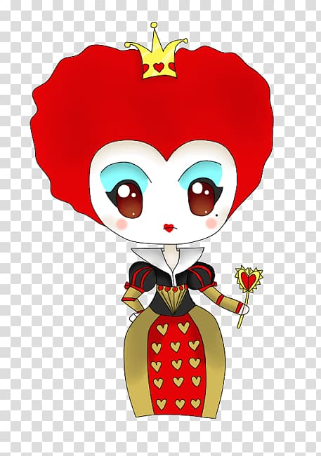 Red Queen Queen of Hearts Alice Cheshire Cat, Chibi.