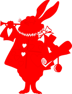 Red Rabbit Silhouette From Alice Clip Art at Clker.com.