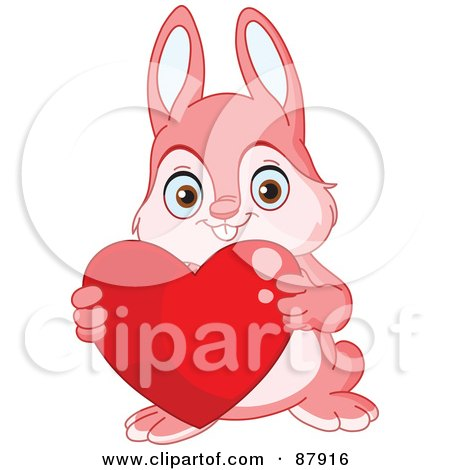 Cartoon of a Rabbit Proposing Marriage to His Love.