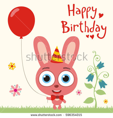 Funny rabbit birthday