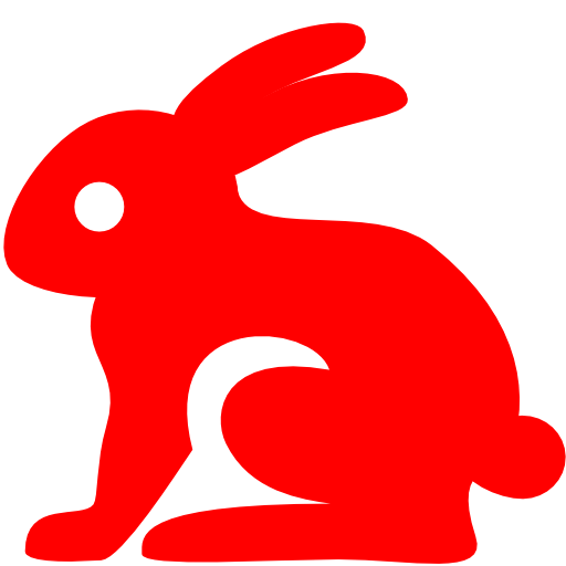 Free red rabbit icon.
