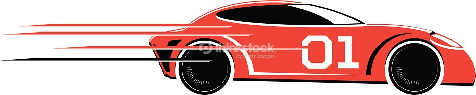Red Race Car Clipart.