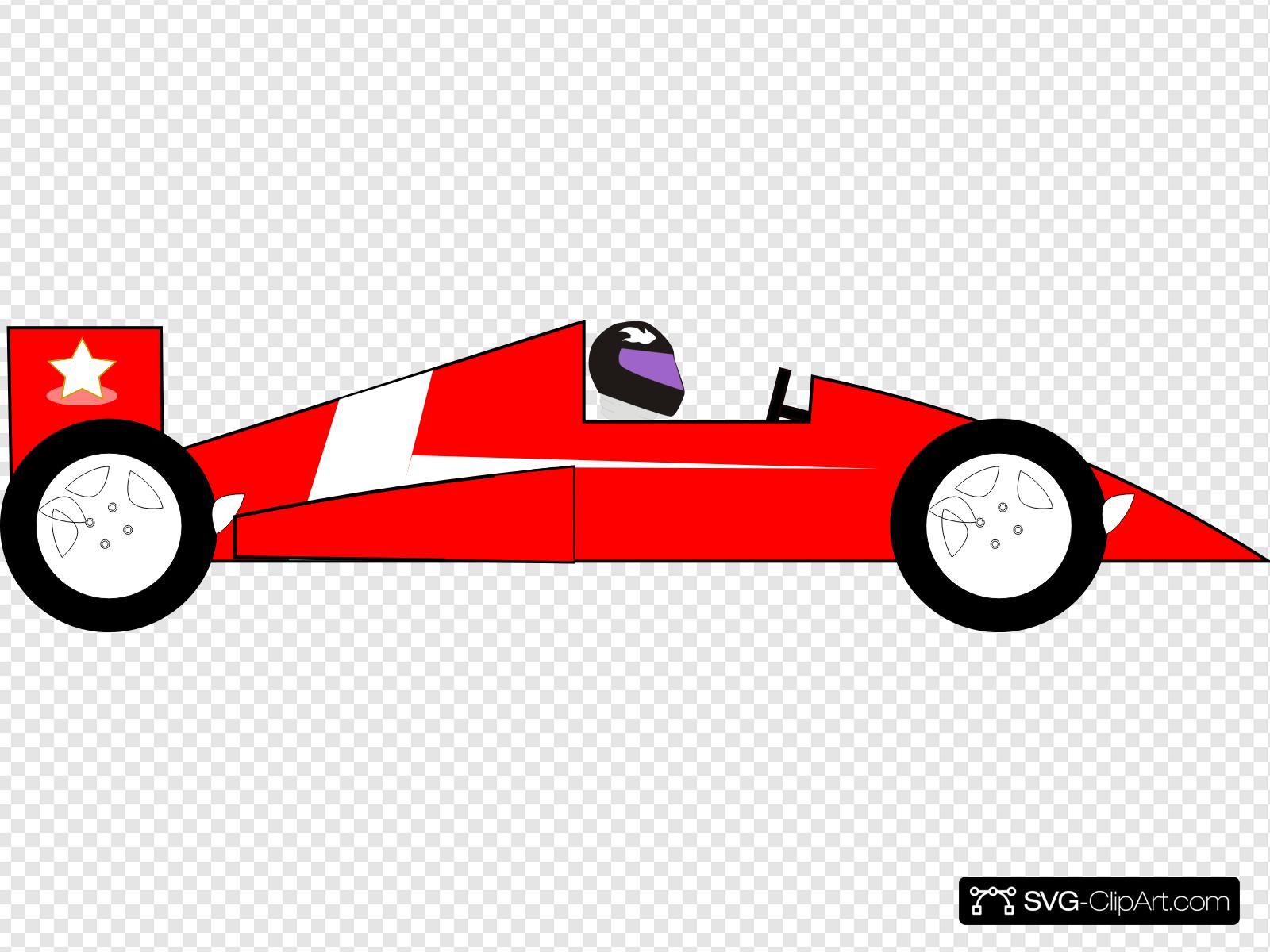 Red Racecar Clip art, Icon and SVG.